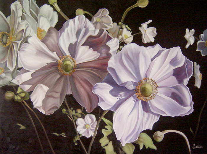 Anemones by Saskia